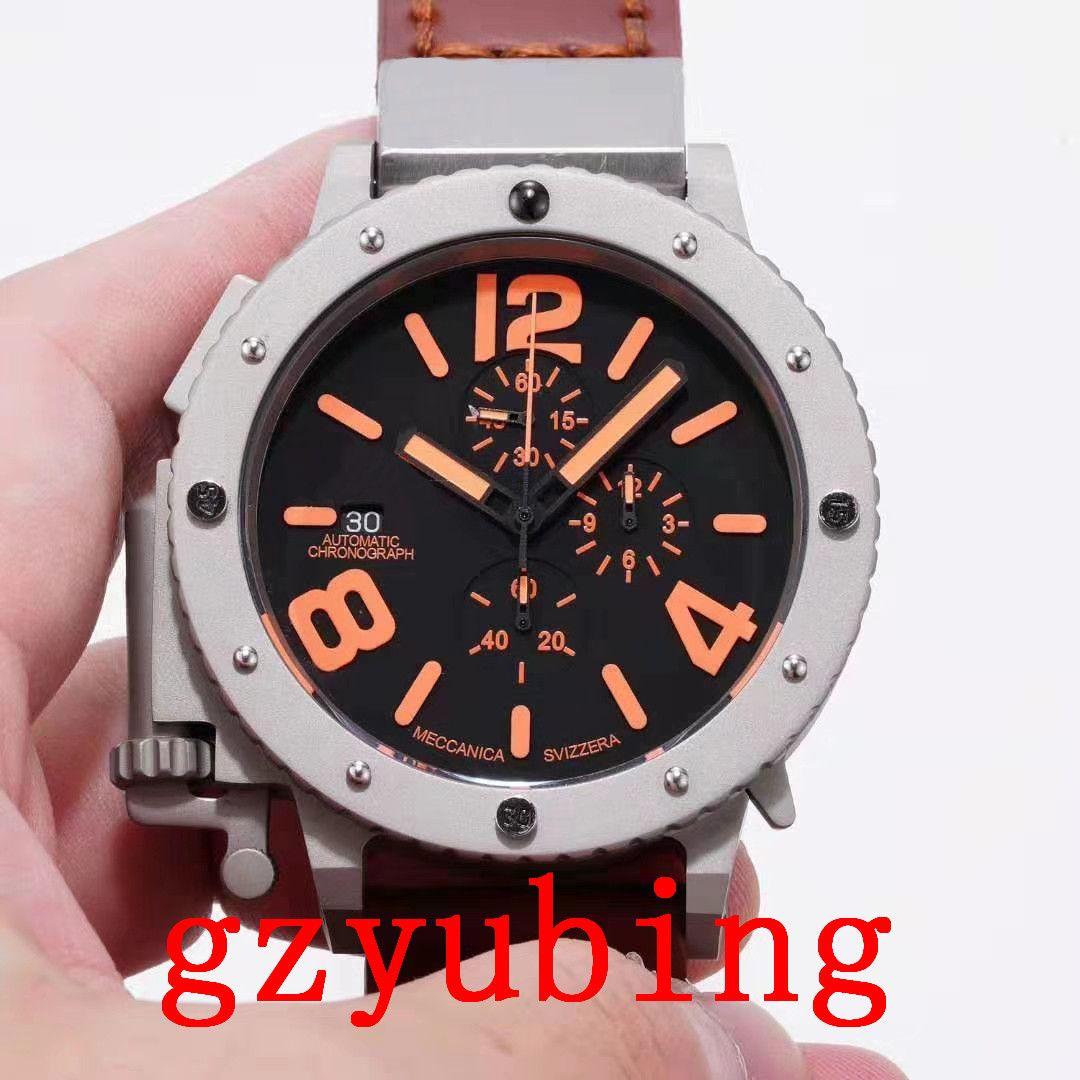 2020 Новые наручные часы хронограф Лодка Fly-назад кварцевый из нержавеющей стали Спортивные Мужские Мужские часы Наручные часы