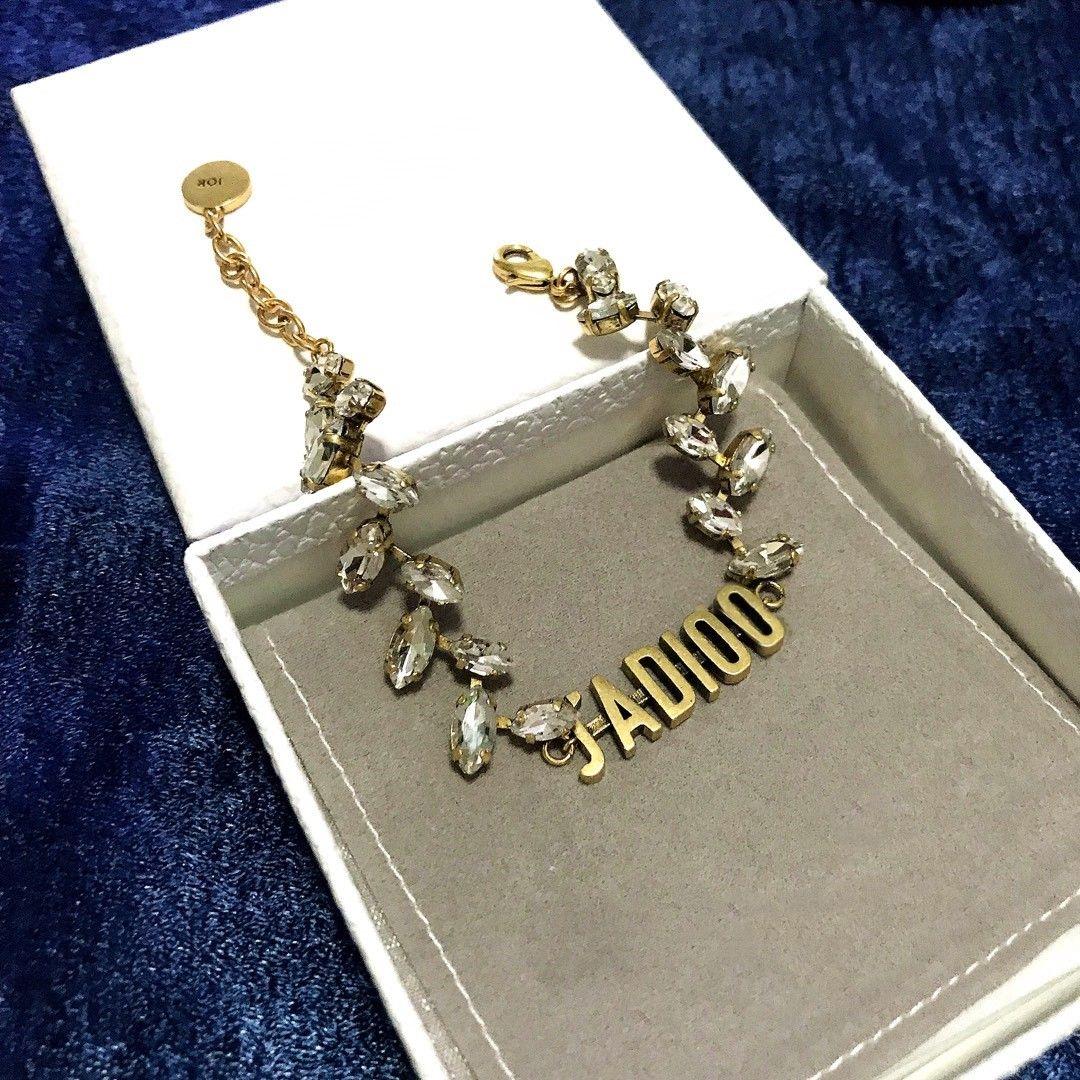 Super popular classic letters wheat ear diamond fashion designer bracelet luxury designer jewelry women bracelet
