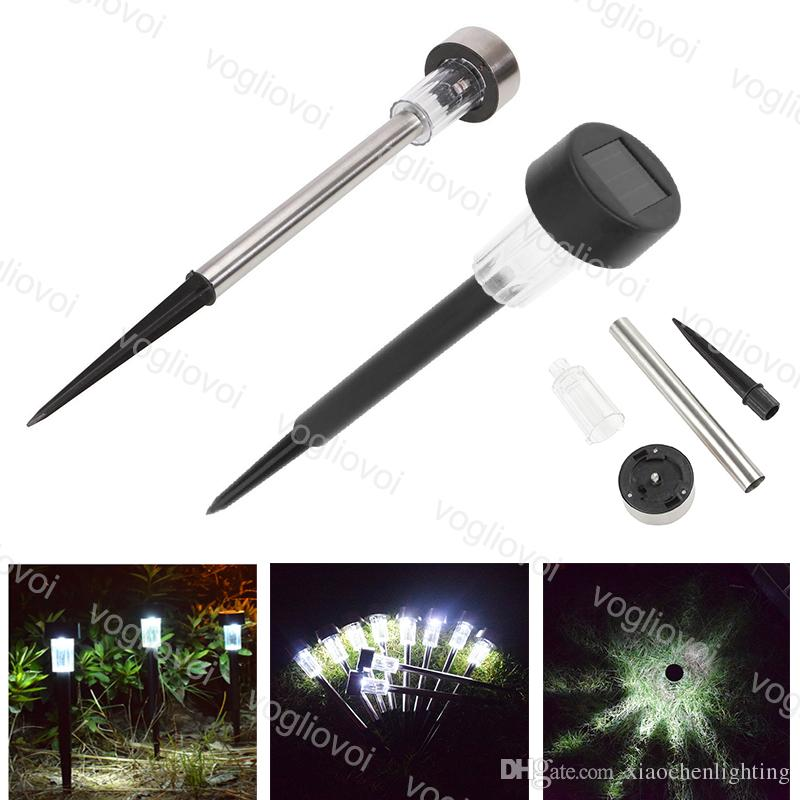 Solar Garden Lights Silvery Stainless Steel /ABS 1LED Warm White Multicolor For Outdoor Path Garden Lawn Landscape DHL