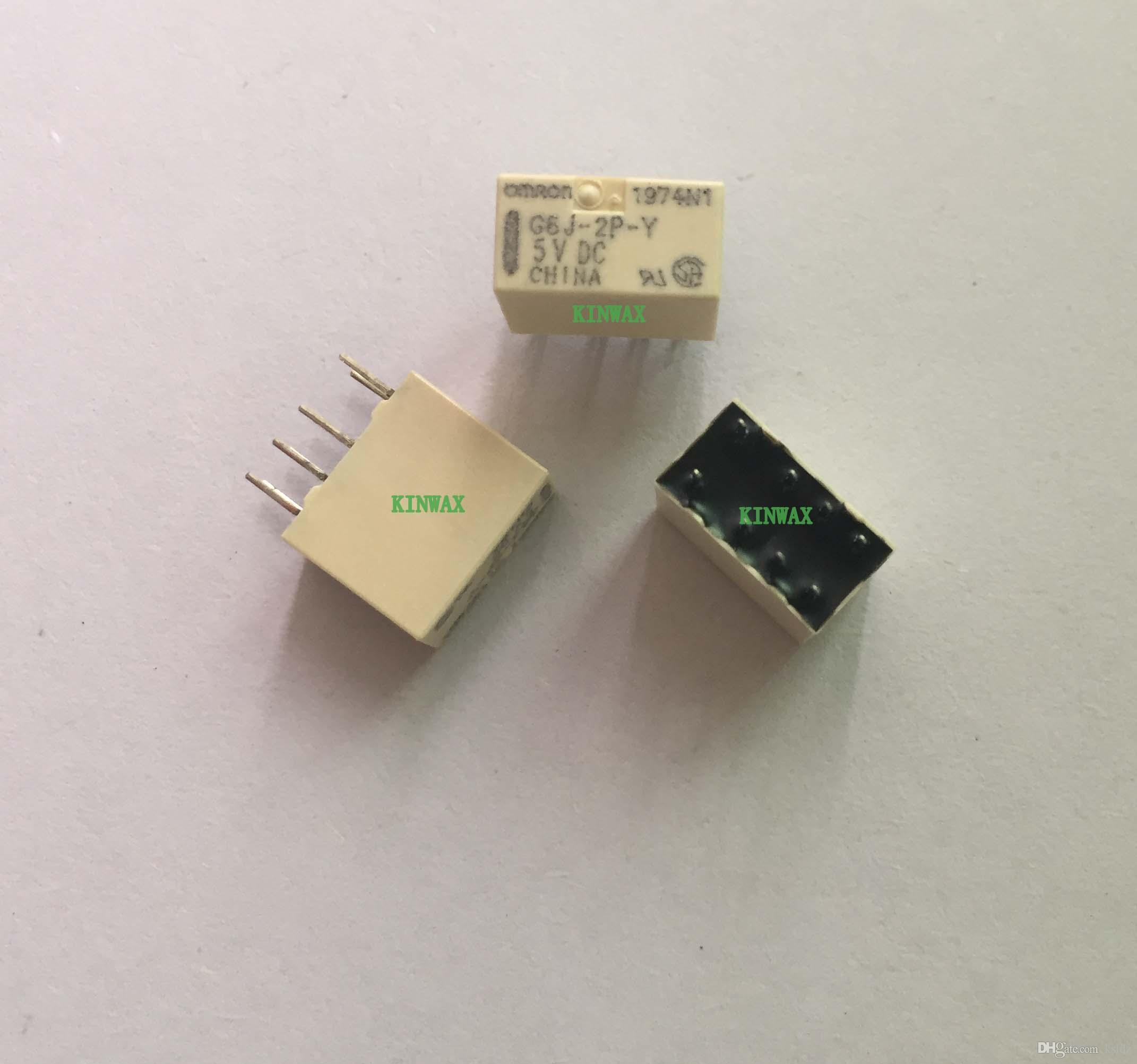 (5pieces / lote) original de Nova G6J-2P-Y G6J-2P-Y-3VDC G6J-2P-Y-4.5VDC G6J-2P-Y-5VDC G6J-2P-Y-12VDC G6J-2P-Y-24VDC 8PINS 1A relé de sinal