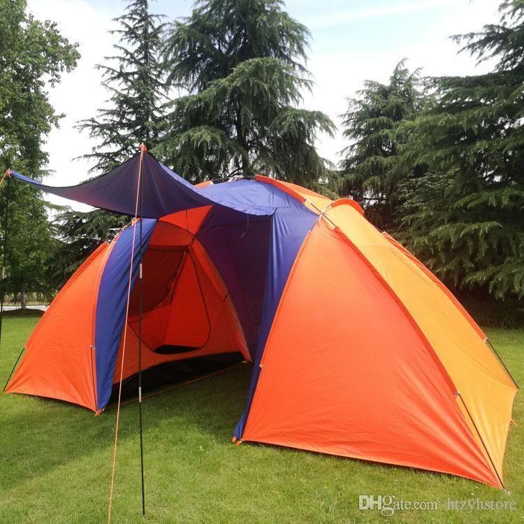 5-8 persona Campaña Camping Camping Dual Capa Impermeable Pop Up Open Anti UV Tiendas de Turismo para al aire libre Senderismo Playa Viajes Tienda Wigwam