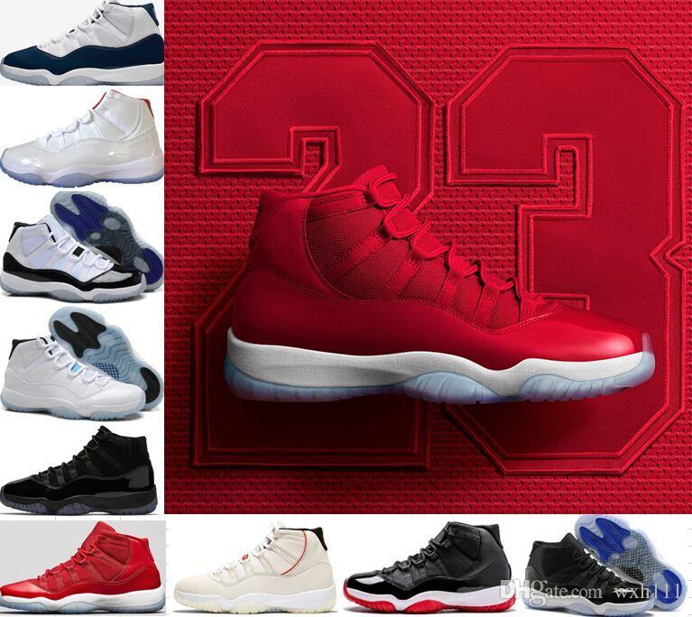 Scarpe da pallacanestro uomo 11 11s di qualità superiore Novità Scarpe da ginnastica firmate Concord Platinum Tint Chicago Gym Scarpe da ginnastica rosse con spazio rosso per donne 13