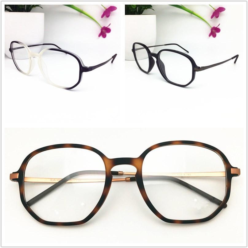 الجملة TR البلاستيك نظارات الإطار أزياء الرجال بصري قصر النظر وصفة طبية تصميم العلامة التجارية النساء السود نظارات الإطار ساحة نظارات 7052