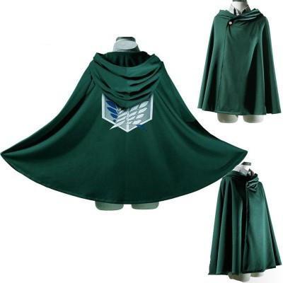 Halloween Costumes Cosplay Attack on Titan Shingeki no Kyojin Scouting Cartoon Clothing Allen Anime Cosplay Unisex Green Legion Cloak S-L