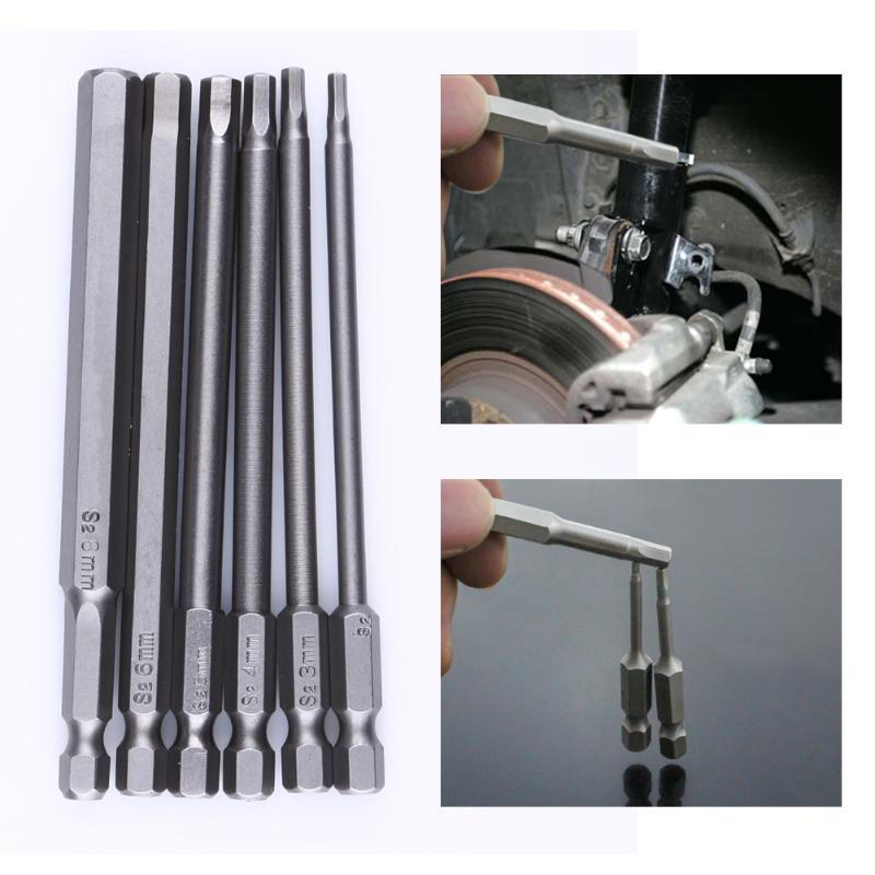 Tournevis de 100mm multi-fonction Longueur 1/4 pouces ex Shank magnétique Exagon ead tournevis Bit Set 2.5 H3 H4 H5 H6 Drill H8