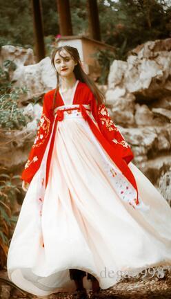 Die neue Hanfu Frauen Herbst Wasser nationale Farbe Tianxiang verbesserte chinesische Elemente Frühling und Sommer Kostüme täglich frisch elegant