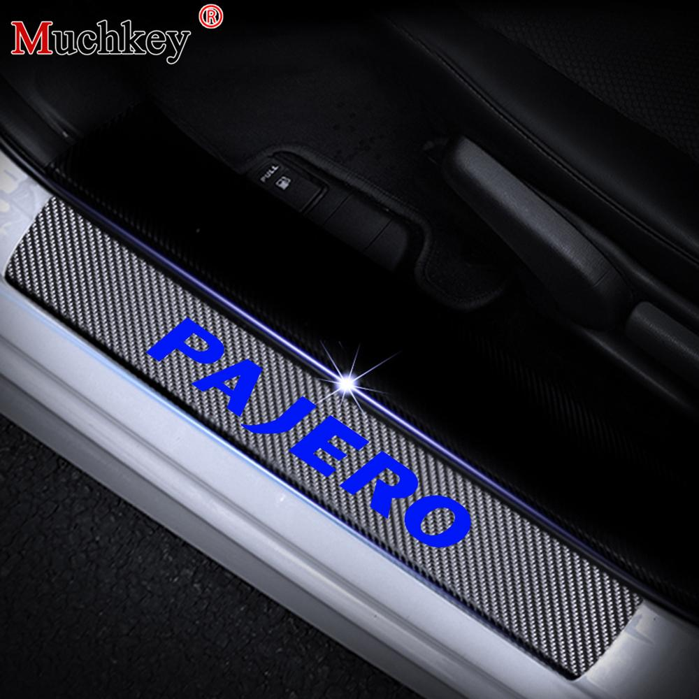 Car Stickers Carbon Fiber Car Door Sill Scuff Protector For Auto Accessories 5D