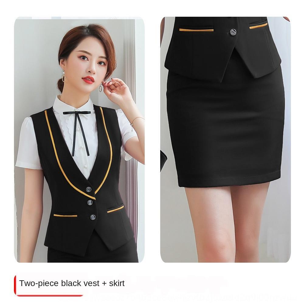 N4Fji 2019 New terno terno colete desgaste das mulheres versátil estilo coreano Vest camisa banco camisa Recepção do hotel Professional formais