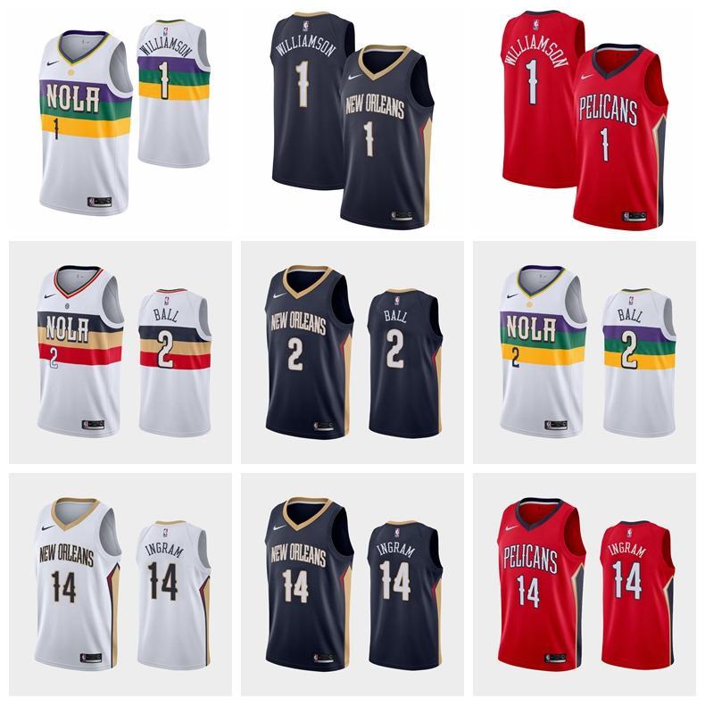 2019 Zion Williamson Anthonydavis Lonzo Ball Brandon Ingram New Orleanspelicans Swingmannba Basketball Jersey Cityedition From Xiaoxiaofaone