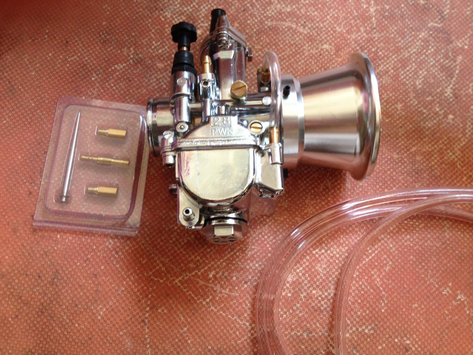 karbüratör 28mm PWK Keihin OKO karbonhidrat krom ağırlık yığın 28 mm yerine düz tarafı yarış