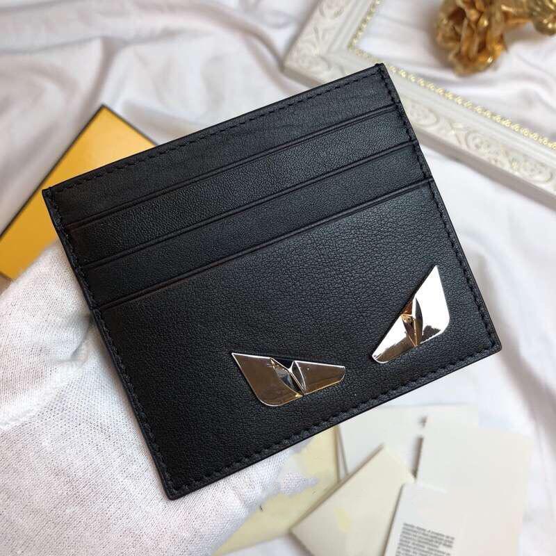 I titolari Mostro pelle bovina del supporto di carta di cuoio degli uomini e delle donne multipla Holder Walle Slim Bancario Carta di sicurezza della moneta della borsa del fumetto borsa della moneta di carta di credito