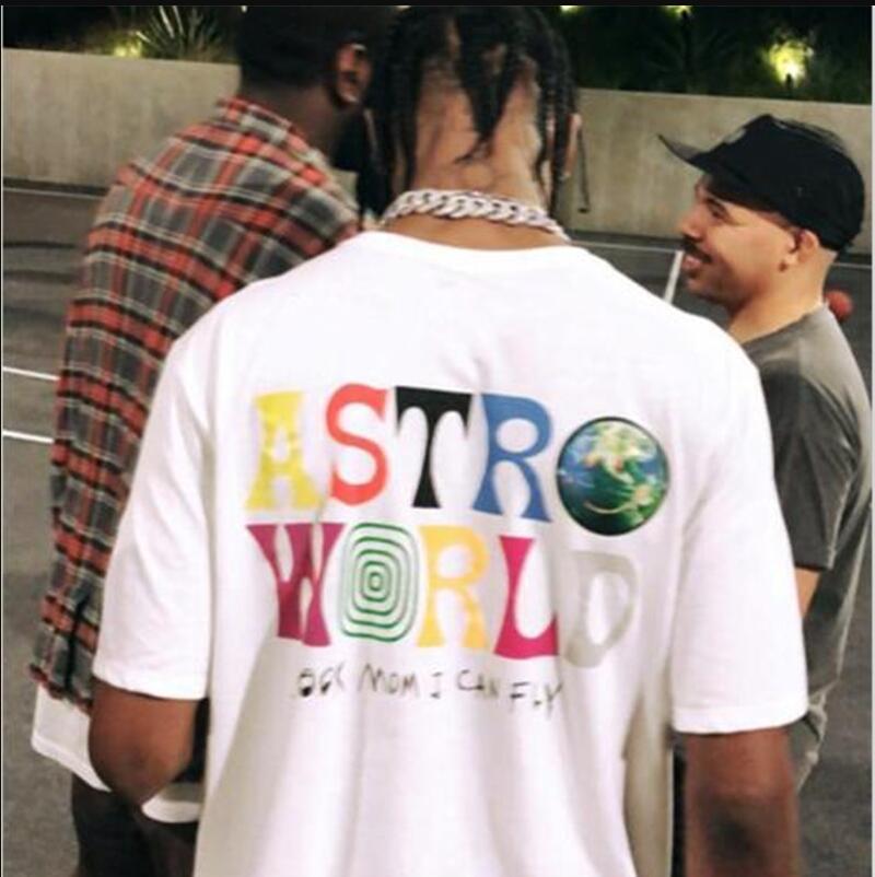 Хлопок 100% Трэвис Скотт Astroworld Concert Concert Merch Летние Мужские и женские хлопковые футболки 2020 Новые продукты Hip Hop Street