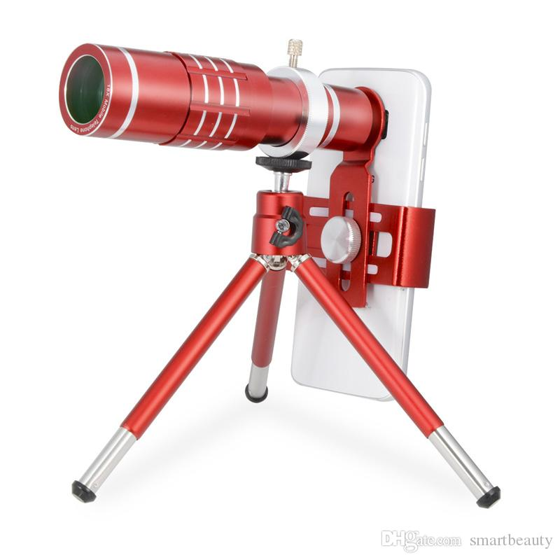 Smart Phone Camera Lens 18X Telephoto Lens Optical Manual Zoom Telescope Lens with Tripod and Clamp Clip-on Cell Phone for iPhone Samsung