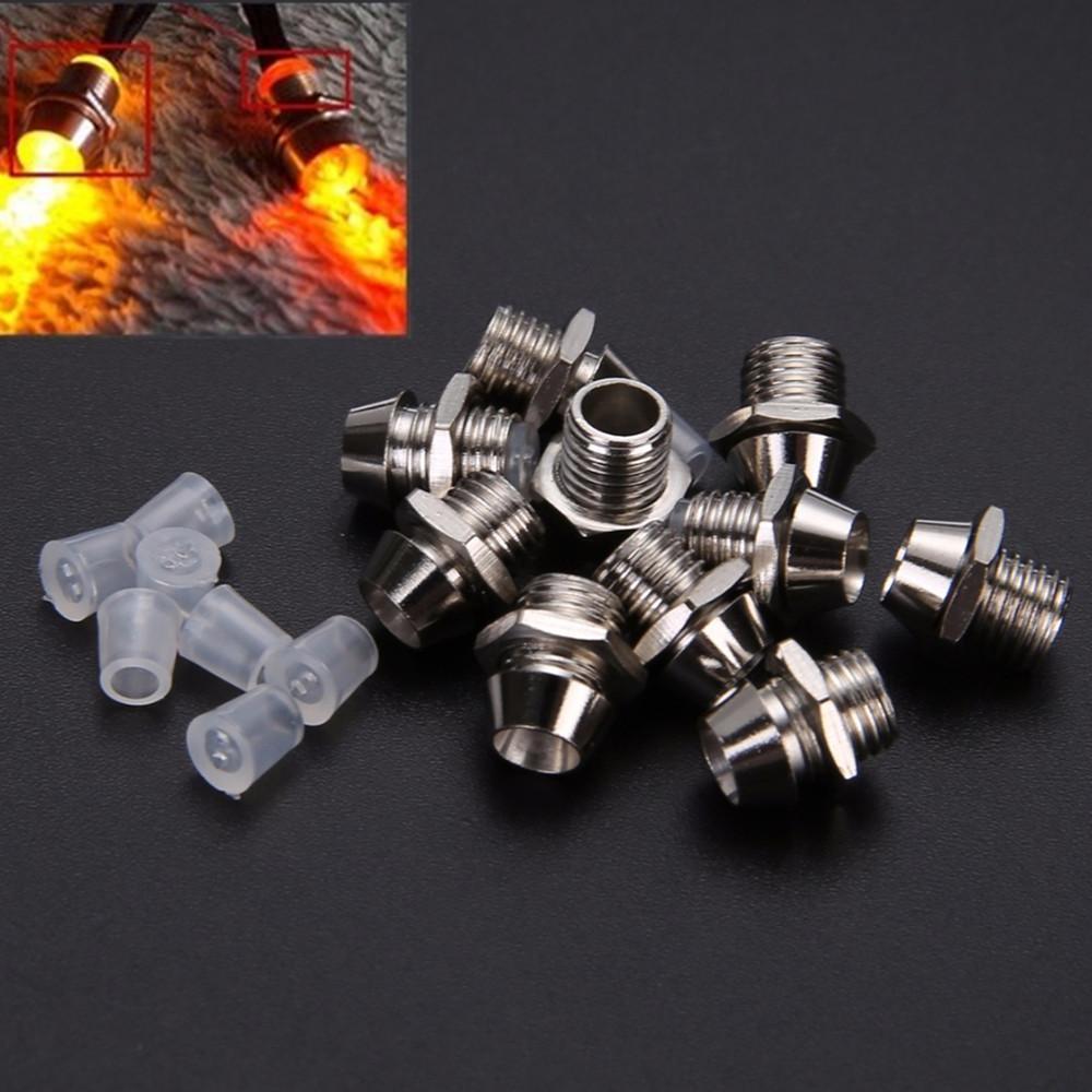 10 Ad 3mm Led Lamba Tutucu Yuvarlak Krom Led Bezel Yayan Diyot Metal Tutucu Aydınlık Tüp Tutucu