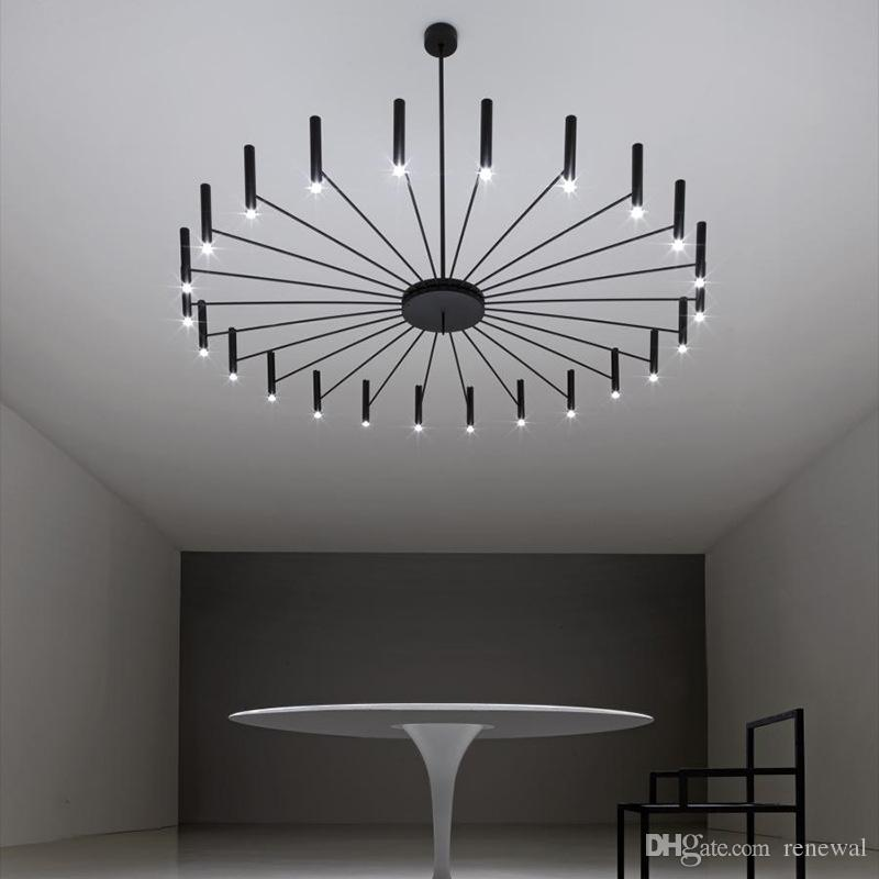 فن تصميم LED الثريات المعيشة غرف النوم مطعم LED مصباح قلادة فوير ضوء ديكو المنزل شنقا ضوء الثابت ومينير