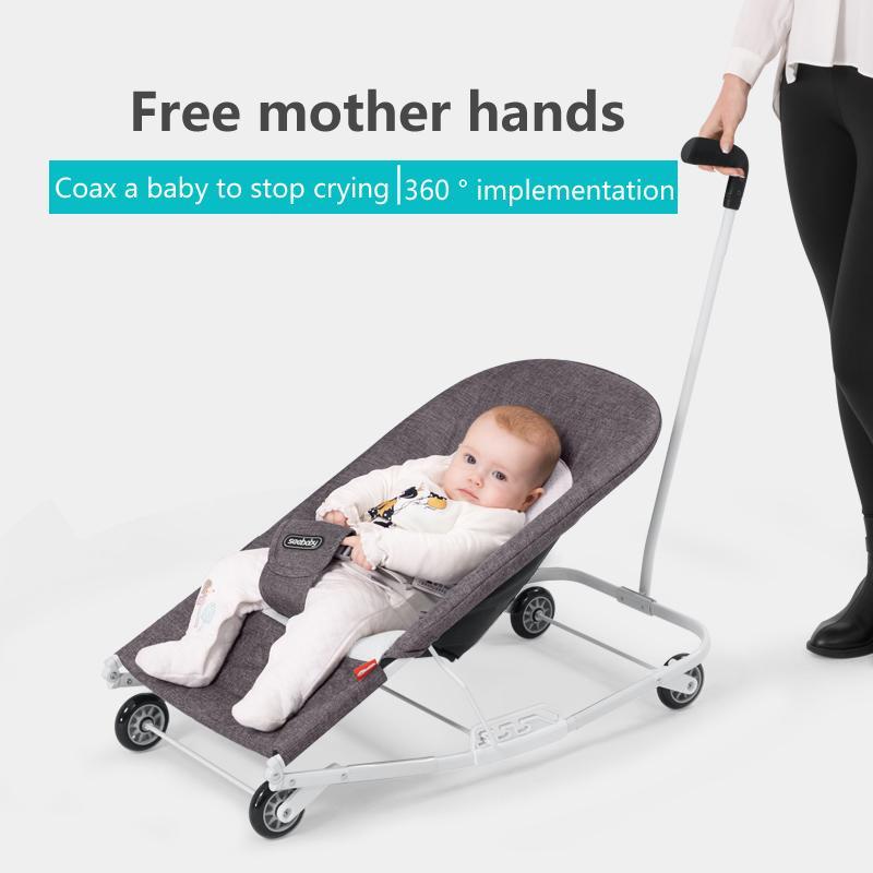 tekerlekli sandalye sallanan çocuklar beşik yatak uyku Bebek sallanan sandalye bebek konfor yatar çalkalayıcı