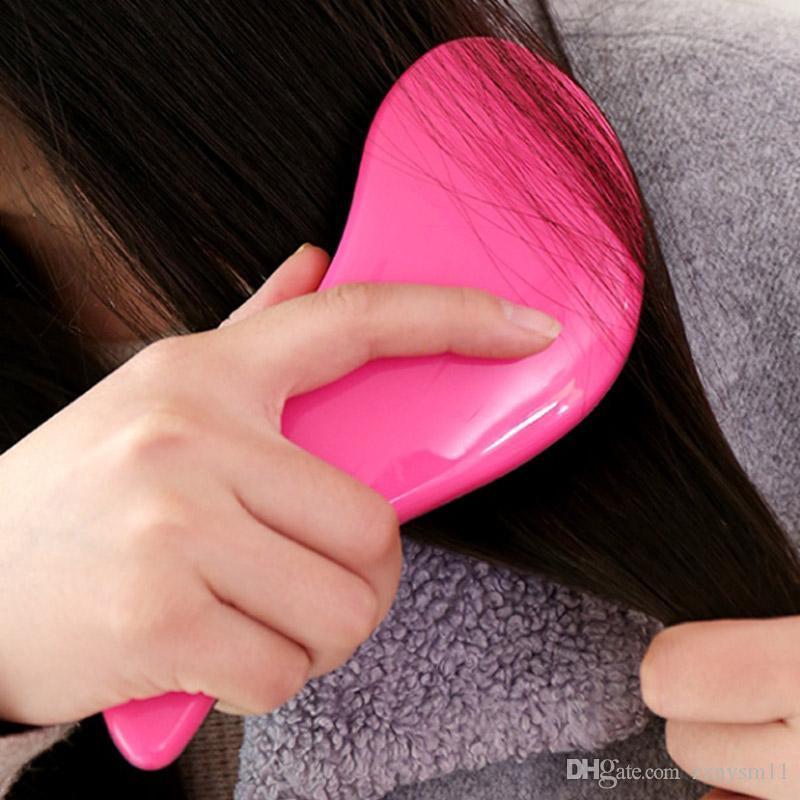 Tangle Brosse à cheveux professionnel brosse à cheveux Paddle Démêlant Brosses à cheveux peigne de massage Soins Styling Femme Anti-statique HJL20