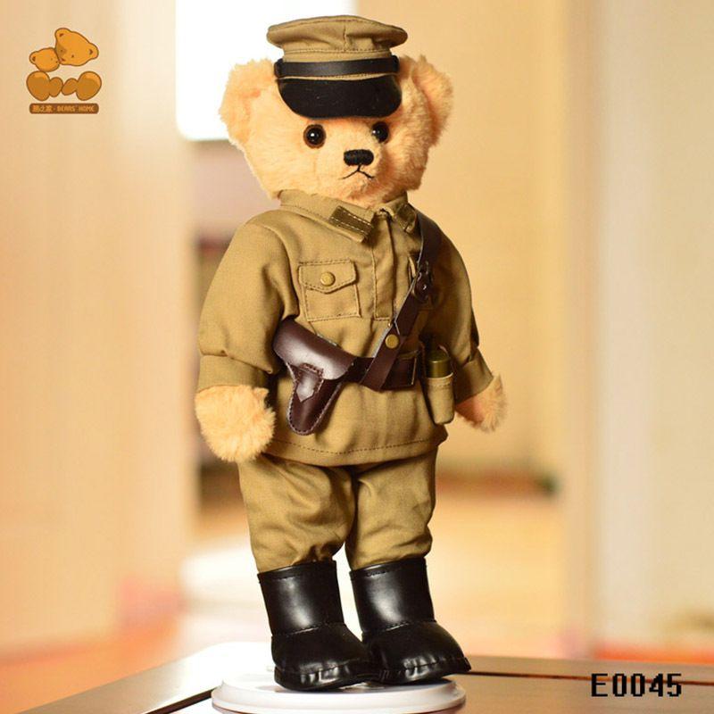 Rus askeri oyuncak ayı peluş oyuncak bebek, 30 cm Eklemler dönebilen ayı oyuncak, tatil hediye, Koleksiyon, Çocuk hediyeler