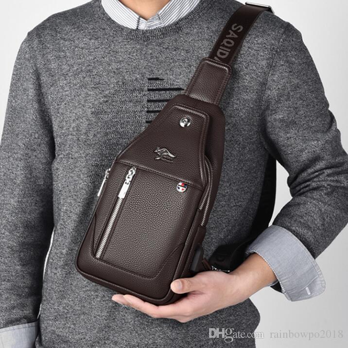 wholesale men handbag outdoor sports casual leather Messenger bag wear-resistant leather shoulder bag street trend leather fashion men bag