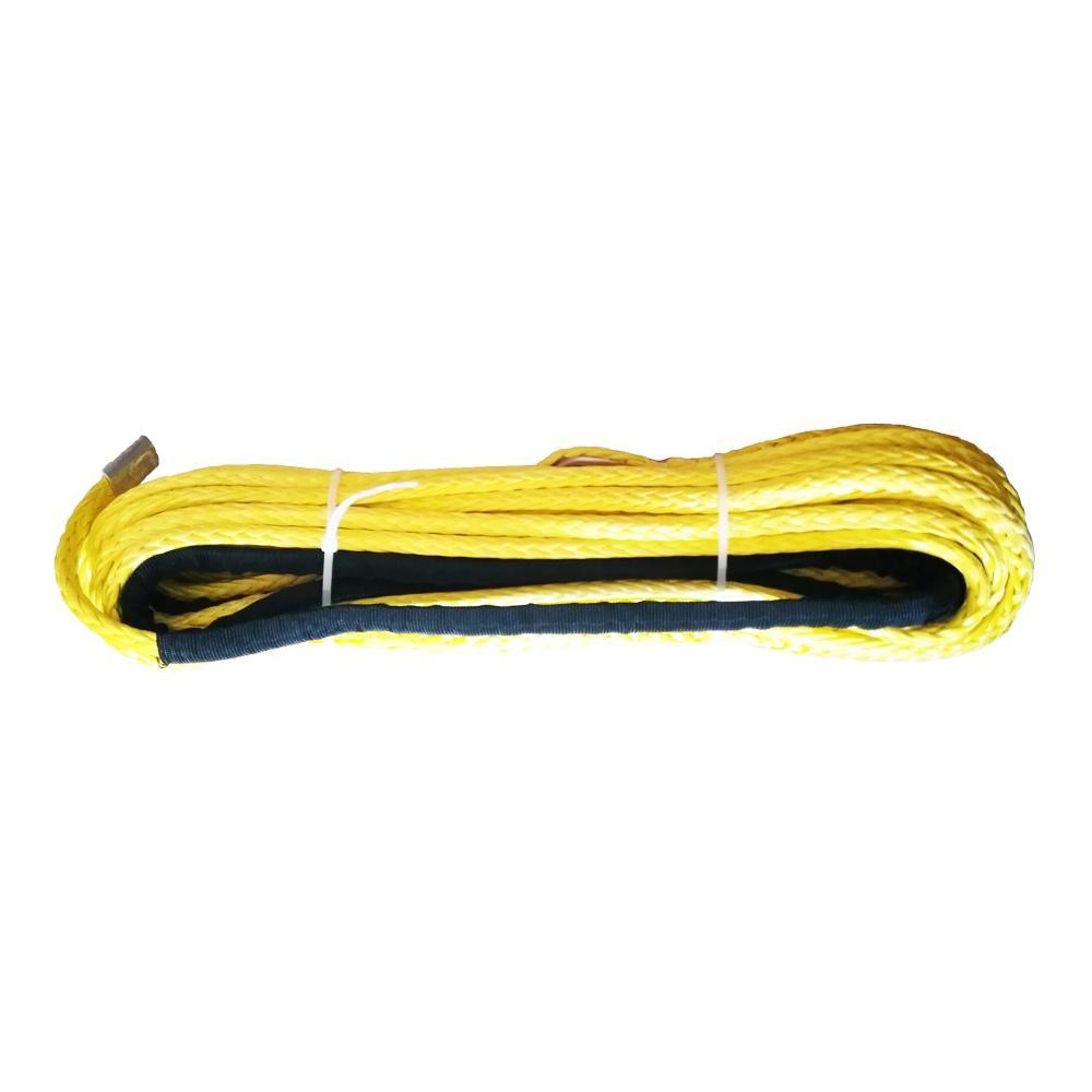 10 mm x 28m Synthetic Rope Winch Cabo para ATV / UTV cordas de reboque amarelo frete grátis