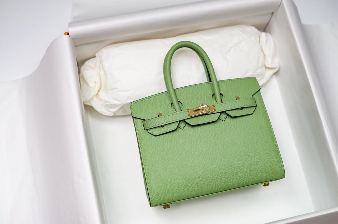 best quality orginal 20 25cm Avocado green brikin bag,epsom skin,handmade,wax thread,many colors with different size on website or instagram