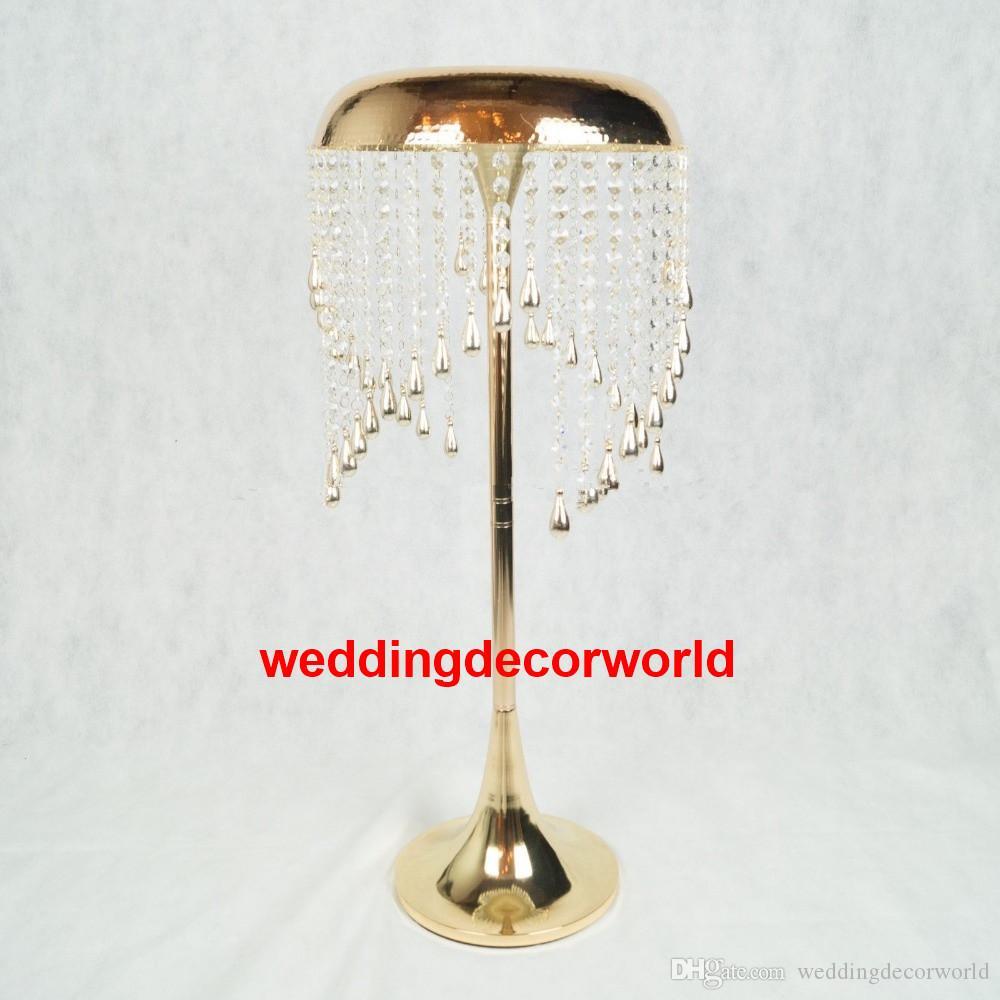 neuen stil hochzeit metall gold farbe blumenvase spalte stehen für hochzeit mittelstück dekoration decor496