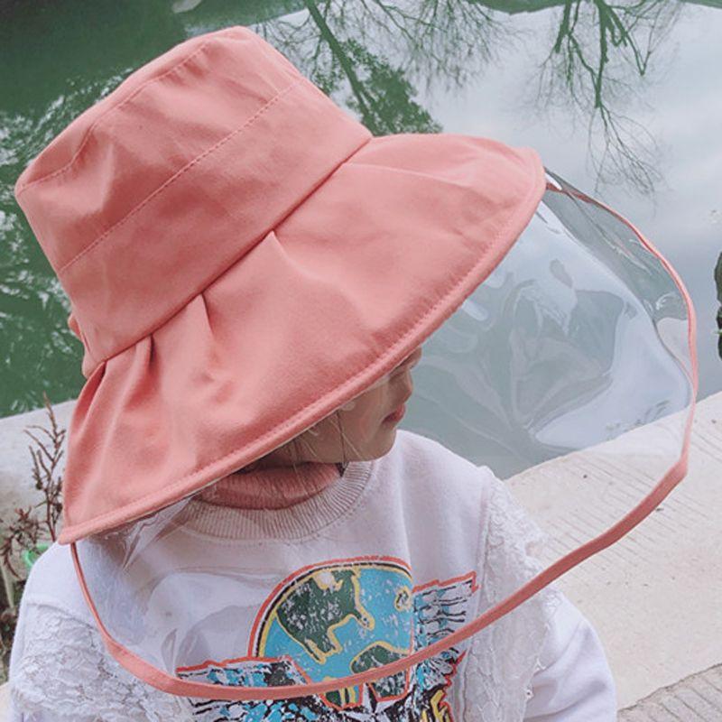 Kids Bucket Hat Shield Kids Hat Face Shield Baby Anti Foam Hood Childrens Protective Cap Isolation Fisherman Version Hats Sun Caps