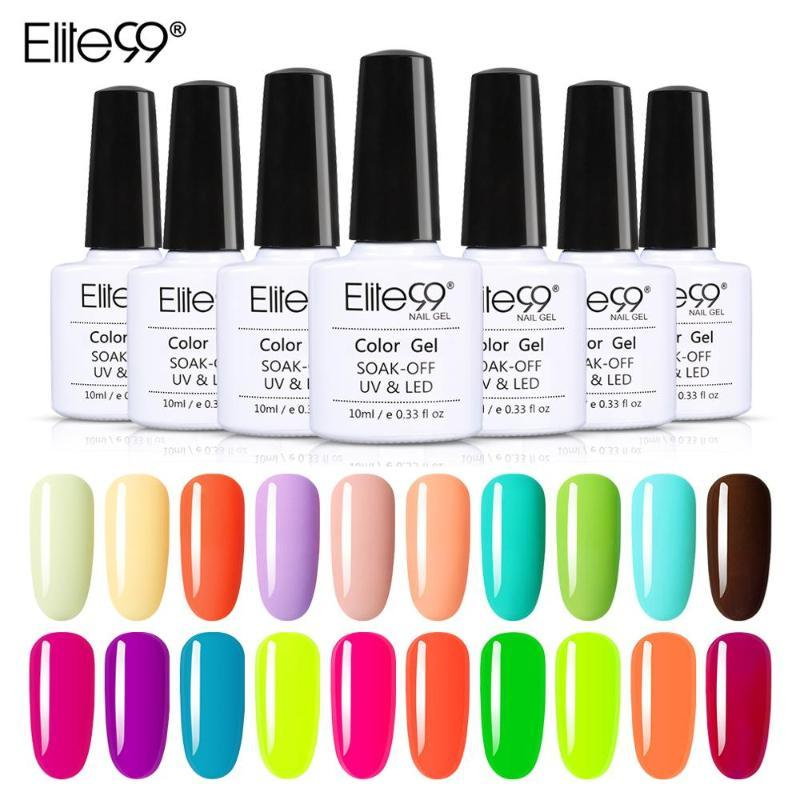 Elite99 10ml Macaron Light Color UV Gel Nail Polish Soak Off Nail Art Varnish Hybrid For Manicure Semi Permanent Gel Polish