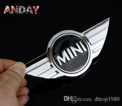 Grande vente de MINI Car Decal 3D Sticker 3M Métal Chrome Badge Cooper logo tronc