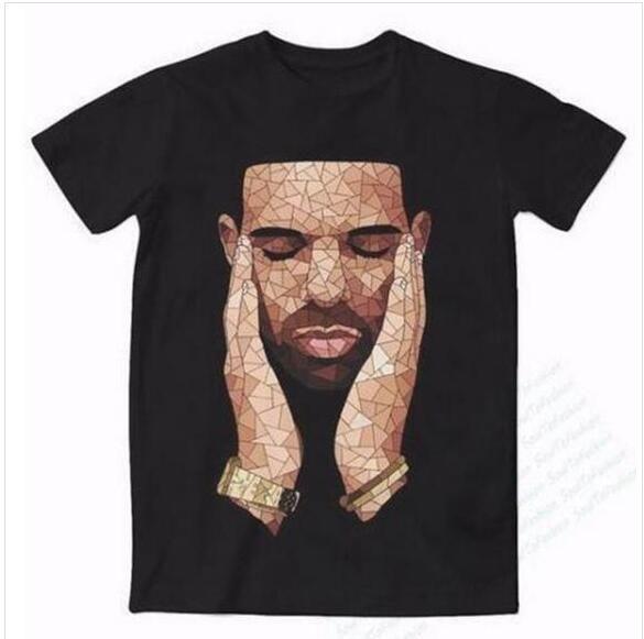 Nouveau Mode Hommes / Womans Drake OVO T-shirt d'été drôle de style unisexe 3D Imprimer Hauts T-Shirt Casual Taille Plus AA085