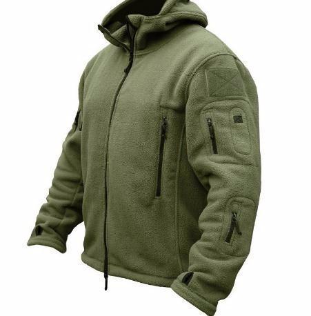 الشتاء الصوف سترة الملابس الدافئة الجيش القطبية متعددة جيب قميص عارضة الحرارية هوديي معطف جاكيتات