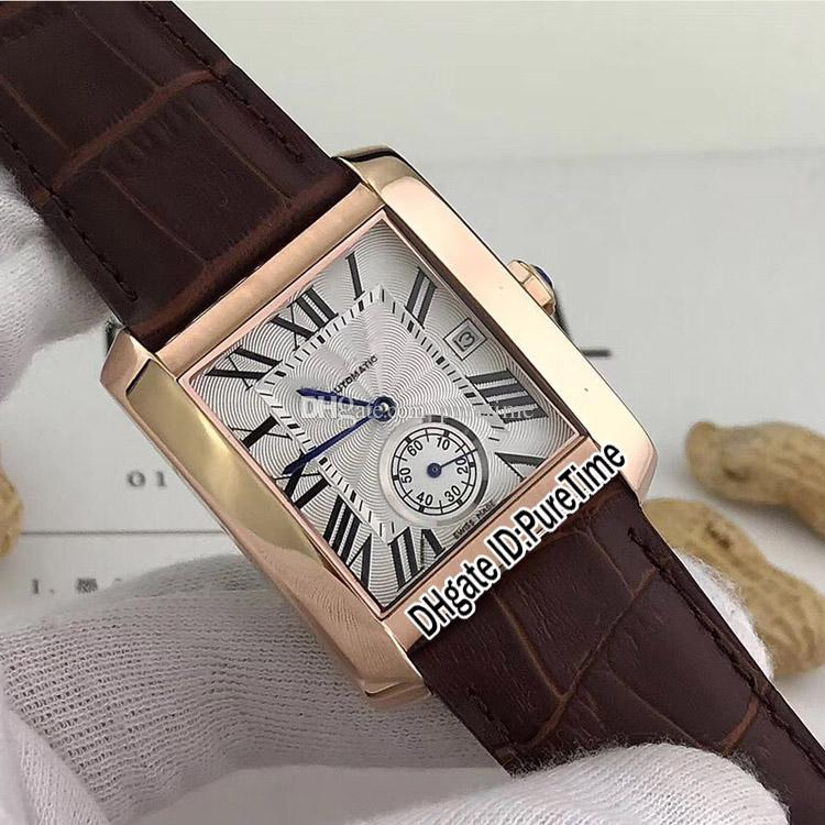 Новый черный корпус стальной серебро W5330003 циферблат Roma Colors Gents Mens Watch Mark Кожаные автоматические спортивные часы 8 текстуры крутой корзину-B37A1 NKBG