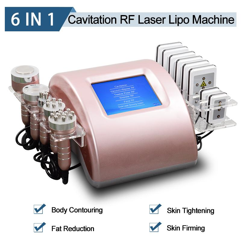 Laser lipo weight loss machine fat cavitation body shaping system RF radio frequency skin tightening face lift 2 years warranty