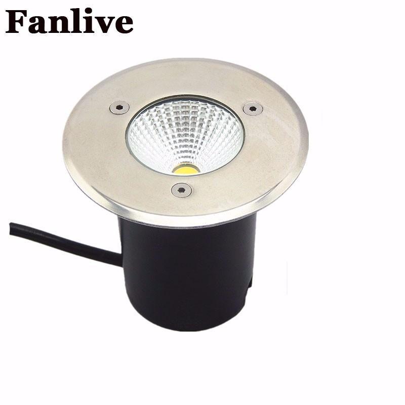 10 teile / los AC85-265V IP68 15 Watt Begrabene Lampe Inground Beleuchtung Outdoor COB LED U-lampe Licht DC12V Garten Licht Hof RGB
