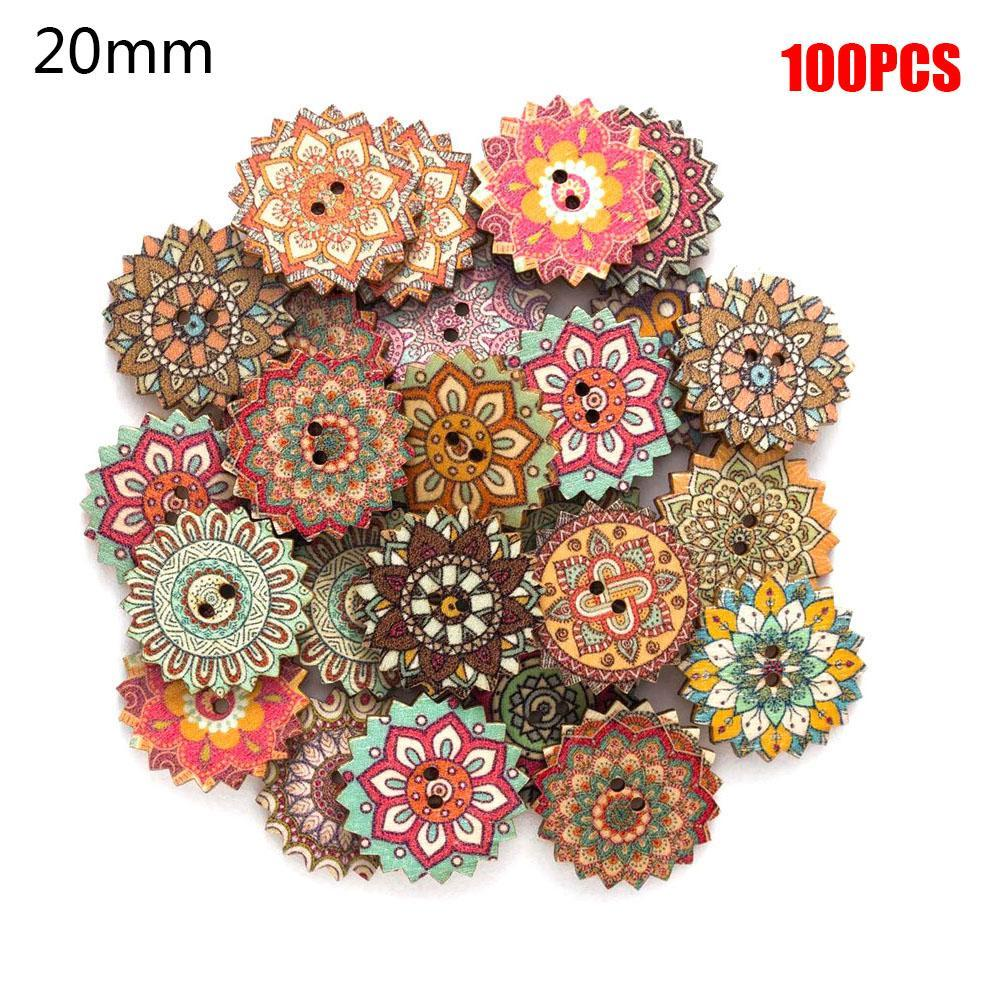 Wood UK Seller! Sewing 50 CHRISTMAS STAR Buttons Scrapbooking Crafting