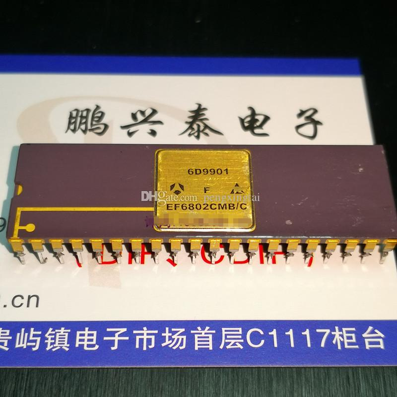 EF6802CMB / C, la superficie d'oro microprocessore a 8 bit CPU Chips / EF6802. Dual In-linea 40 perni CI pacchetto ceramica / processore annata 6802