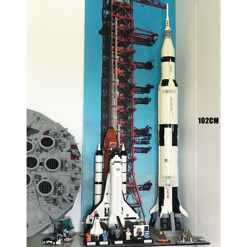 37003 Apollo Saturn V Space Launch Vehicle USA Rocket 16014 Construction de modèles Blocs jouets pour les enfants Compatible 10231 21309