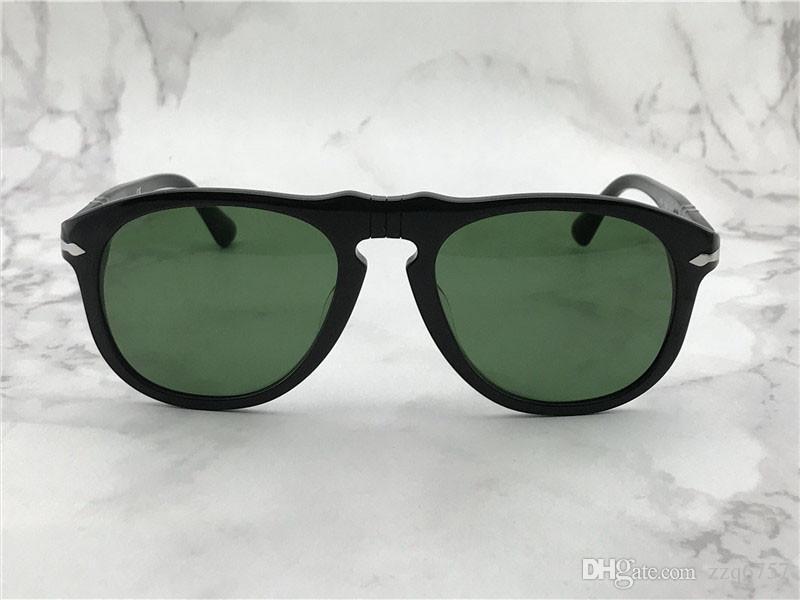 Diseño de moda Gafas de sol 649 clásico Retro Marco de piloto Lente de cristal UV400 Protection Eyewear con estuche de cuero