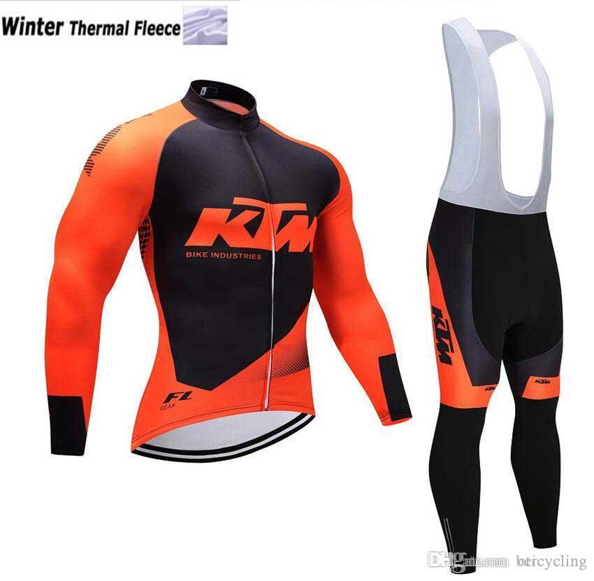 2018 in pile termico ciclismo maglia a maniche lunghe e in bicicletta i pantaloni in bicicletta Kit Strap Ciclismo Bicicletas MTB Abbigliamento sportivo B19110202