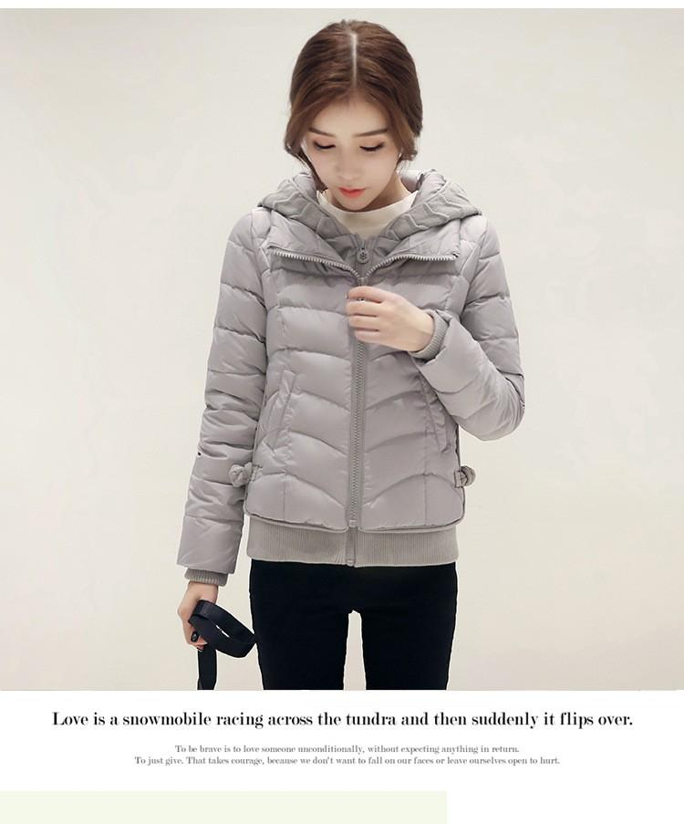 f620adda16d Winter Coat 2016 New Knitting Hooded Duck Down Jacket Women Thick Coats  Slim Fashion Students Patchwork