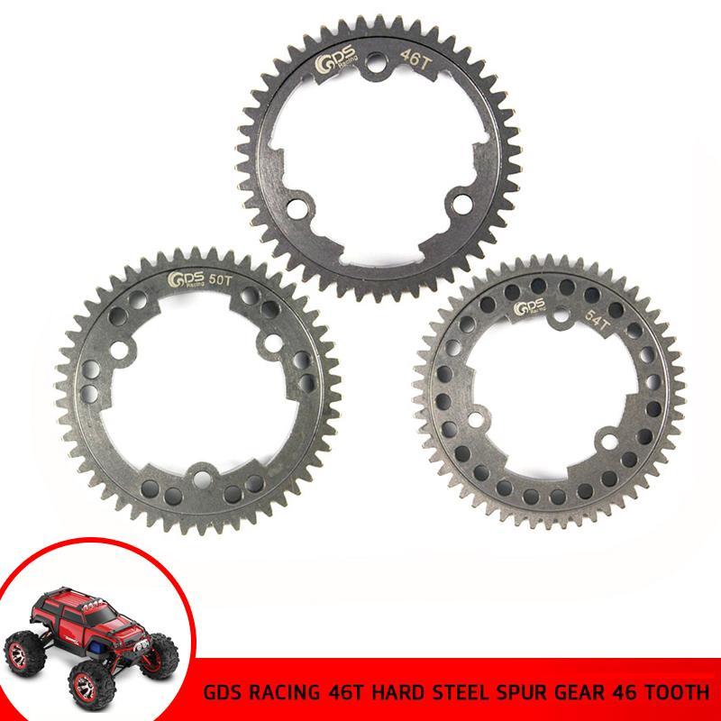 1/5 GDS Corrida de aço Spur engrenagem 46T / 50T / 54T Tooths RC Car Truck Traxxas Xmaxx Gearwheel para 1: 5 Peças Tire Acessórios