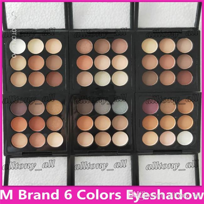 M maquillage maquillage palette de tache à paupières Bourgogne ombre oculaire x9 matte satiné yeux pro 9 Compact haute qualité cosmétique dhl livraison gratuite
