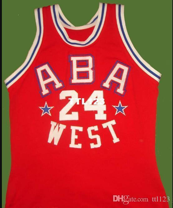 Vintage Men # 24 Ron Boone White Road RETRO Accueil tissu maille Taille de broderie S-4XL pleine ou sur mesure tout nom ou le numéro Jersey College