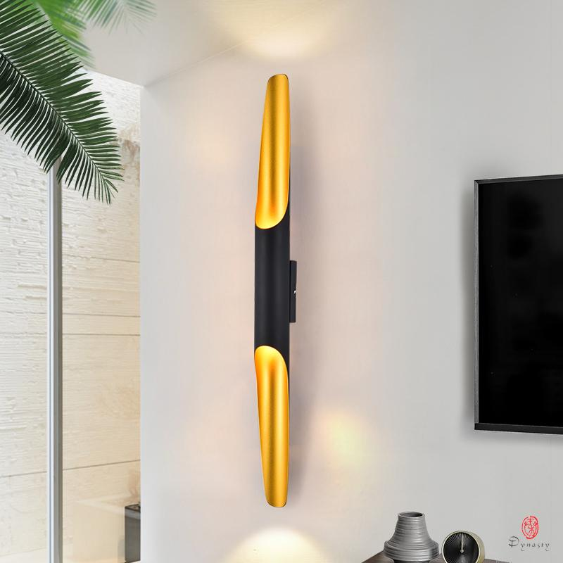 Zarte Wandleuchten Moderne Loft LED-Wandleuchte Designer Aluminium dekorative Beleuchtungskörper Black Gold Startseite Schlafzimmer Beleuchtung