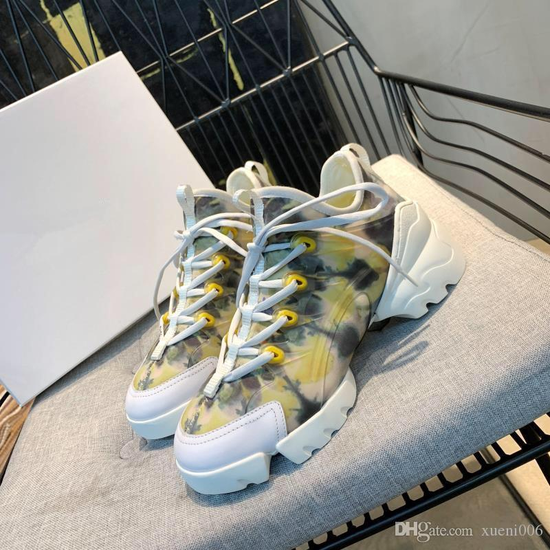 Личность и моды известный дизайнер Роскошные кроссовки обувь с высоким качеством натуральной кожи женщин случайный дизайнер rx19040705