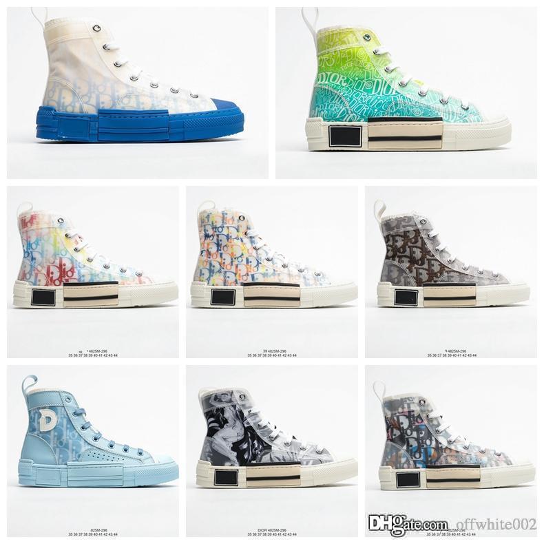 Luxus-High-Top-B23 Oblique-Turnschuh Männer Frauen Mode-Muster-Spitze-up Jogging Basketball-Schuhe der Qualitäts-Designer-Schuhe mit Box