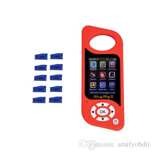 JMD Handy Baby II 4D/46/48 Chips Car Key Chip Copier Key Programmer Handy Baby 2 with 10pcs JMD King Chips 46/4C/4D/G Chip