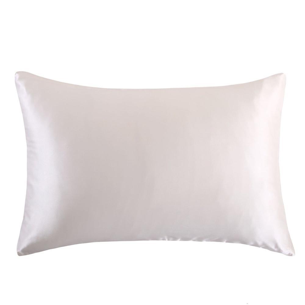 Caso libre del envío el 100% fundas de almohada de seda de morera naturaleza cremallera almohada para sana SH190925 estándar multicolor rey de la reina