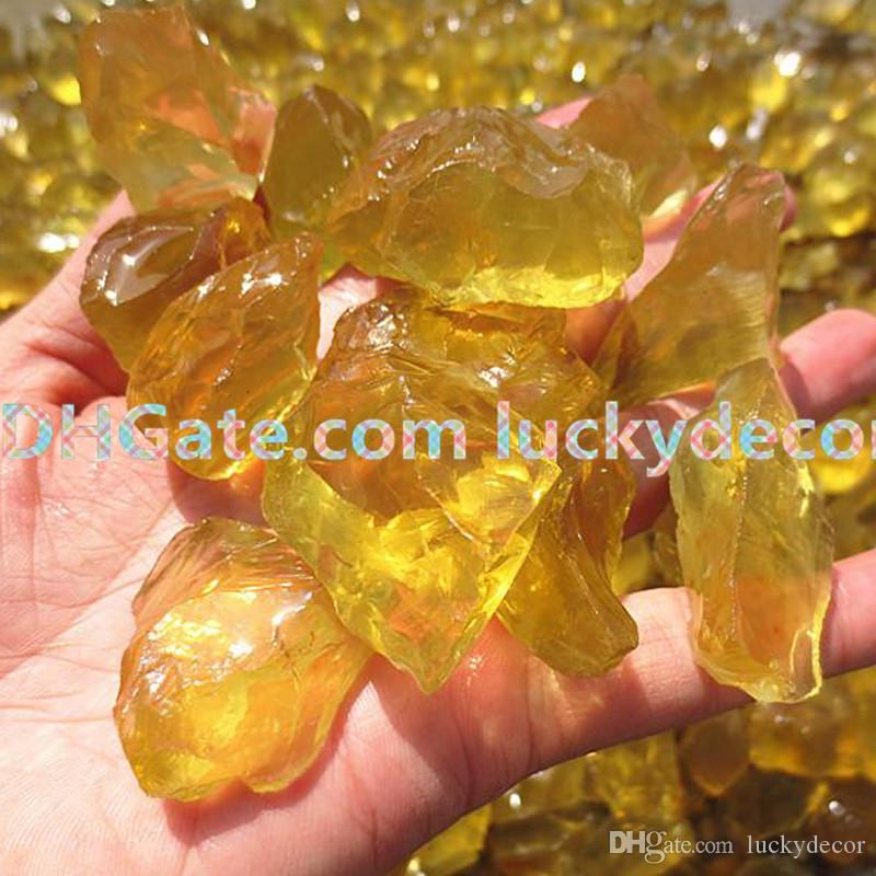 Freeform Powerful Lemon Yellow Raw Healing Crystals Throat Chakra Reiki Stones Bulk Lot, Random Size Rough Natural Brazil Citrine Gemstones