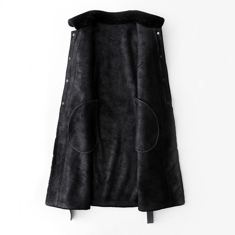 Real Fur Coat Sheep Shearing Winter Coat Women Korean Long Jacket for Womens Clothing Abrigos Mujer Invierno 2020 868556 YY724